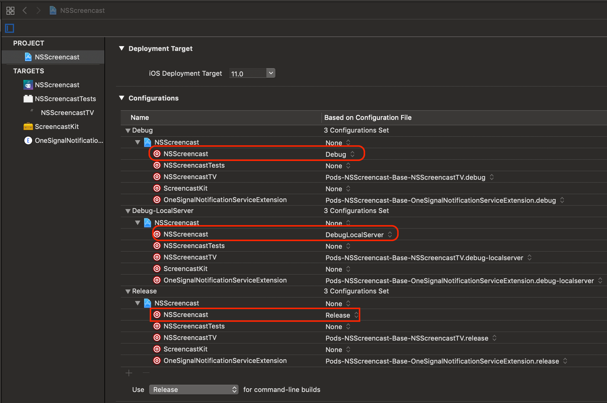 Xcode Environment Specific Configuration